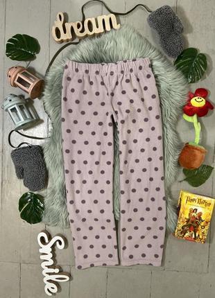 Теплые флисовые домашние брюки штаны #84