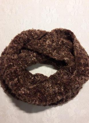 Мягкий шарф снуд хомут ручная вязка