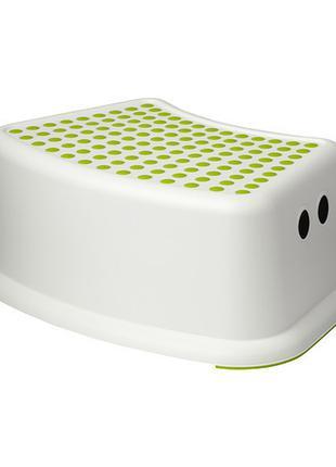 Подставка - ступенька детская пластиковая бело-салатовая IKEA