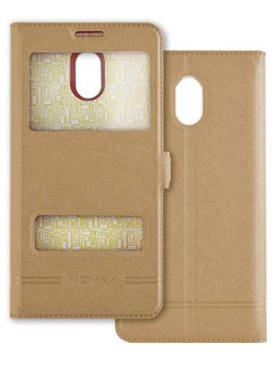 Чехол книжка Momax Xiaomi Redmi 5 plus кейс футляр 2 окна