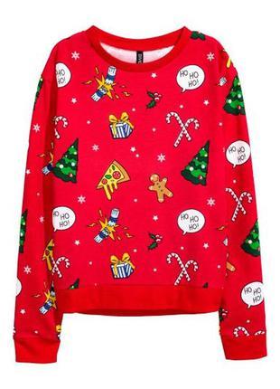 Рождественский свитшот свитер на рождество новый год