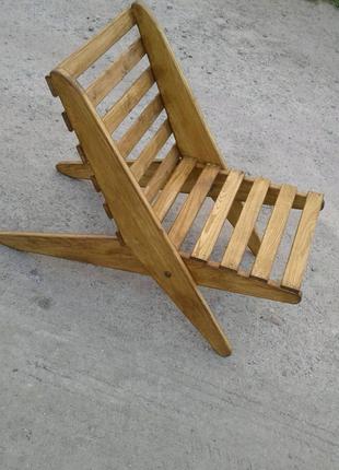 Складной дачное кресло стул из дуба