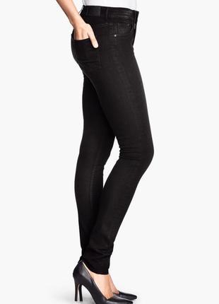 Черные джинсы h&m женские скинни, 24,25,26,27