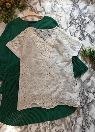 Блуза из хлопковый ткани