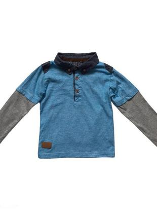 Хлопковая кофта поло для мальчика 2-3 года
