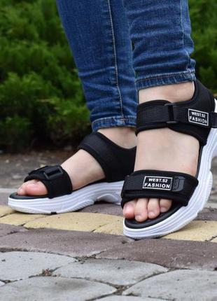 Босоножки черные женские летние  обувь взуття жіночі болосіжки...