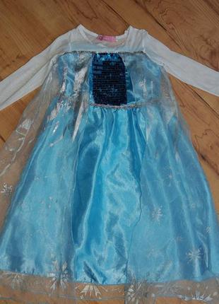 Карнавальный костюм детский платье принцессы эльза