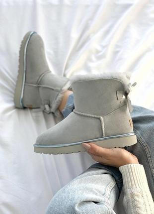 Угги для модниц 💪ugg bailey bow mini light blue 💪
