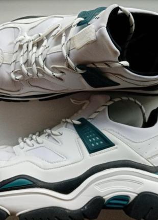 Треккинговые высокие кроссовки на толстой подошве ботинки ориг...