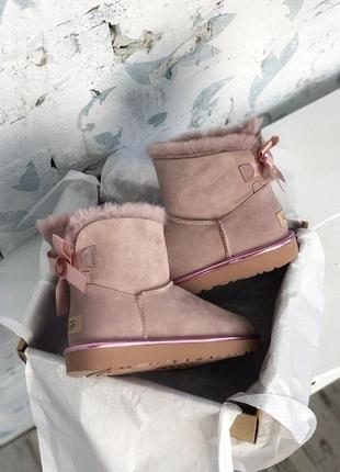 Топовые угг💪ugg bailey bow mini pink💪