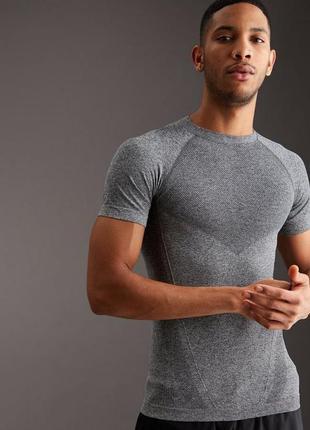 Термобельё верх бесшовная футболка топ для тренировок бега
