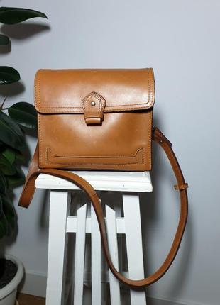 Кожаная сумка кросс-боди zara