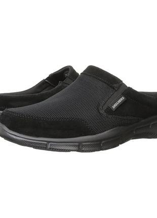 Новые замшевые скейчеры кроссовки мокасины слипоны шлёпанцы чё...