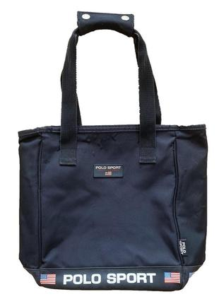 Винтажная сумка-клатч чёрная сумка-тоут polo ralph lauren ориг...