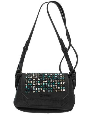 Сумка с цветными заклёпками 3d клэр мини кроссовер сумочка с д...