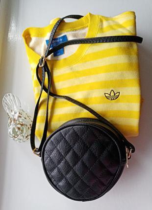 Черная сумка мессенджер сумочка под кожу кроссбоди через плечо