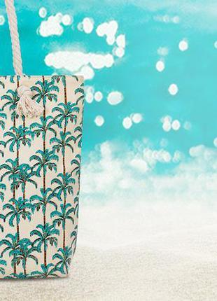 Большая сумка-тоут на молнии пляжная сумка холщовая торба прин...
