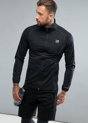Спортивная олимпийка мужская кофта жакет чёрная ветровка куртк...