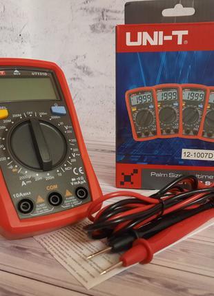 Мультиметр цифровой UNI-T UT-131D с подсветкой щупы