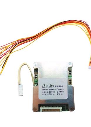 Плата BMS 13S 48 вольт 60А для Li-Ion аккумулятора