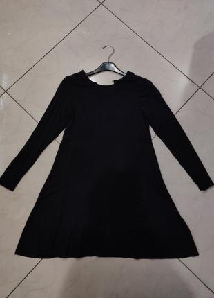 👑♥️final sale 2019 ♥️👑  черное мини платье с длинным рукавом
