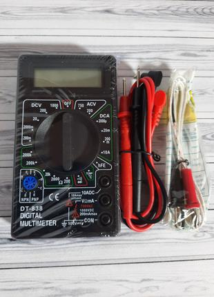 Мультиметр со звуком цифровой DT-838