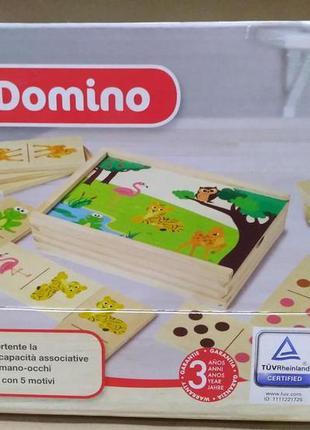 Игровой деревянный набор детское домино playtive.