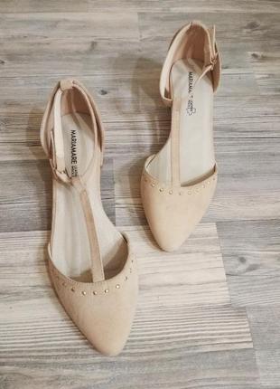 Стильные босоножки сандали туфли на низком каблуке с закрытой ...