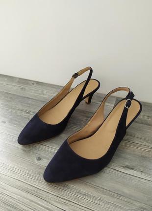 Стильные кожаные замшевые босоножки туфли лодочки