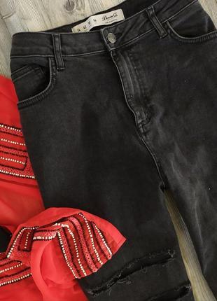 Крутые мом момы джинсы с высокой посадкой талией