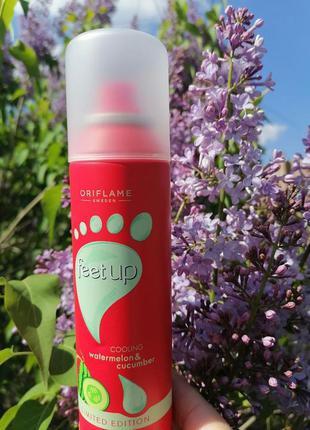 Охлаждающий спрей-дезодорант для ног с арбузом и огурцом feet ...