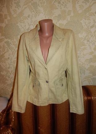 Intown пиджак джинсовый модный весенний р 12