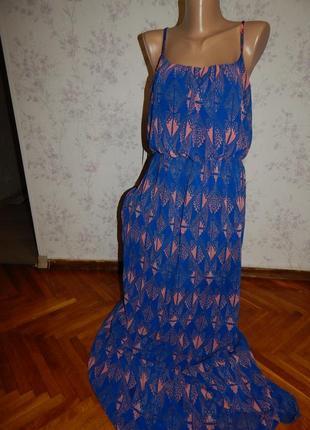 New look сарафан шифоновый летний стильный модный на подкладке...