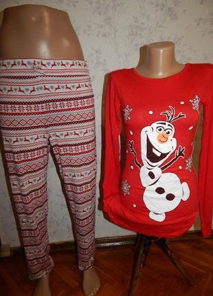 Marks&spencer пижама вискозная кофта со штанишками р10