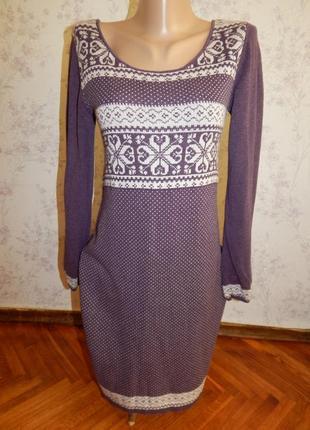Fat face платье трикотажное с длинным рукавом стильное модное р12