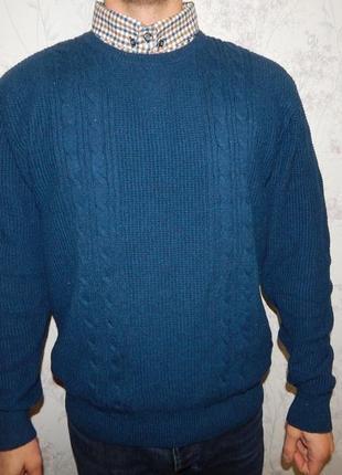 Next свитер с рубашкой-обманкой мужской стильный модный рxl