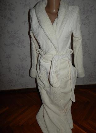Sorbet халат плюшевый мягкий тёплый р8 длинный