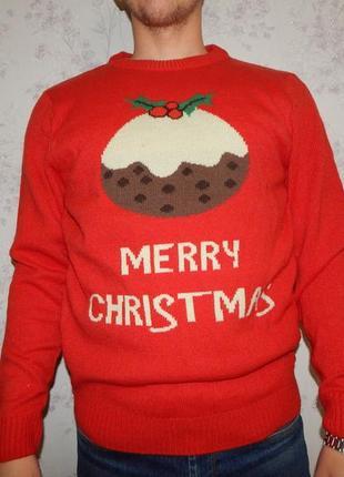 The christmas workshop свитер мужской новогодний рм