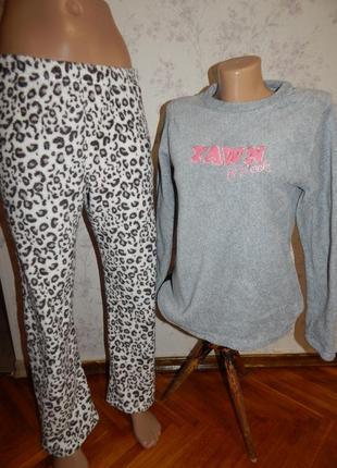 Love to lounge пижама плюшевая кофта со штанишками рxs