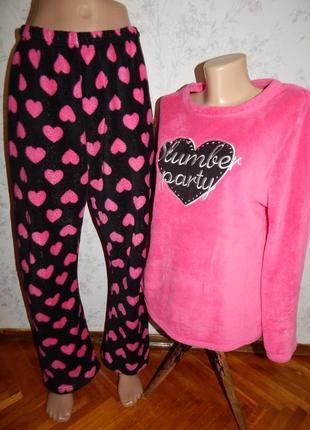 Love to lounge пижама плюшевая мягкая тёплая кофта со штанишка...