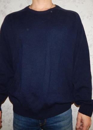 Marks&spencer свитер мужской шерстяной стильный модный рl blue...