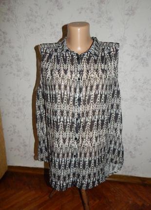 H&m блузка шифоновая полу-прозрачная стильная модная р12
