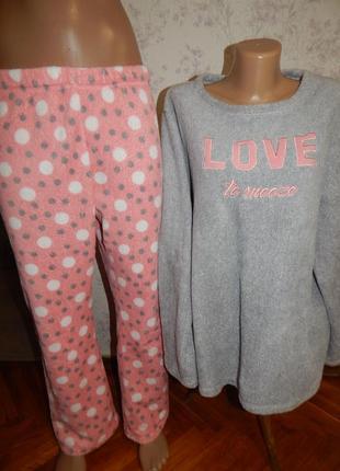 Love to lounge пижама плюшевая кофта со штанишками р18