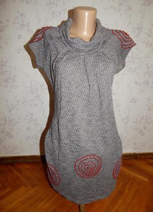 Smash платье-туника тёпленькое, стильное, модное рм