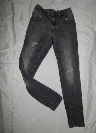 George джинсы рваные фабрично на мальчика подростка 12-14 лет