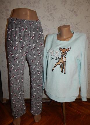 Love to lounge пижама плюшевая скомбинированная кофта со штани...