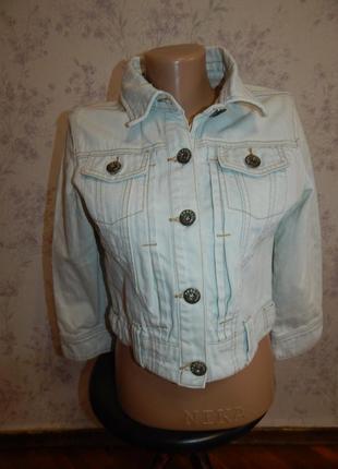 New look куртка джинсовая укороченная стильная модная р12