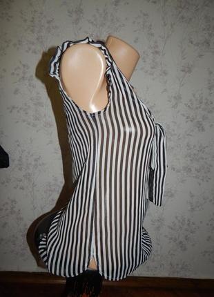 Atmosphere блузка полу-прозрачная стильная модная р6