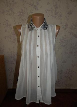 Atmosphere блузка шифоновая полу-прозрачная стильная модная р8