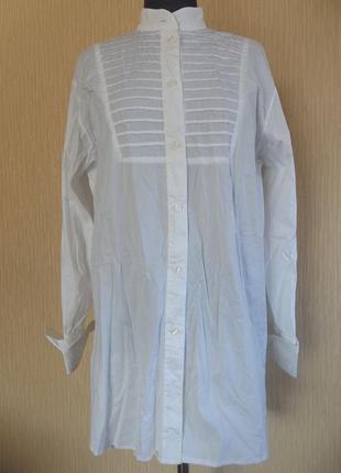 Белая длинная рубашка, платье